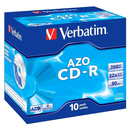 CF. 10 43327 AZO CD-R 700MB 52X 80min. jewel case