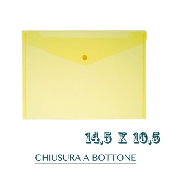 CF. 5 BUSTE C/BOTTONE f.to 14.5X10.5 GIALLO