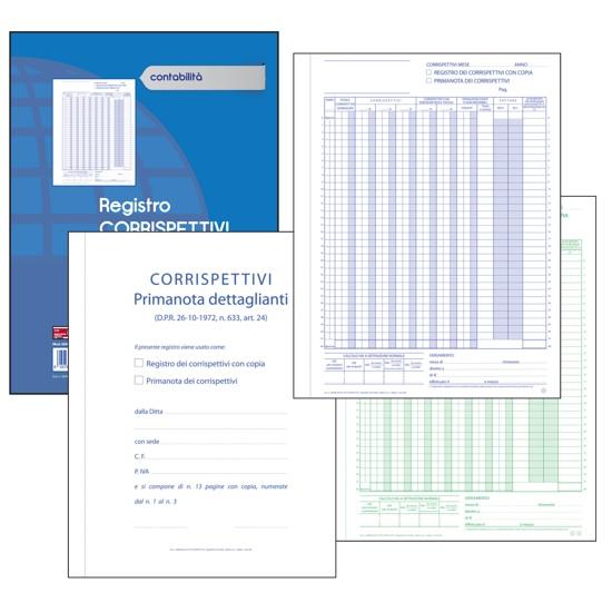 CF. 10 BLOCCHI CORRISP. PRIMANOTA DETTAG. 2 COPIE 13 MODULI f.to 23x29,7