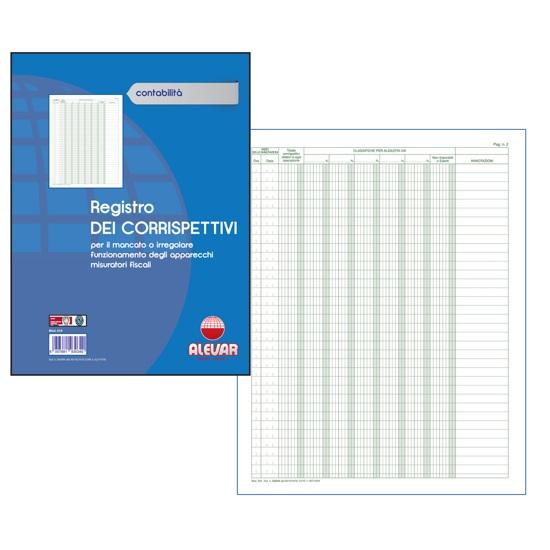 REGISTRO DEI CORRISPETTIVI 48 PAGINE f.to 24,5X31