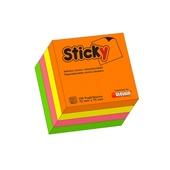 CUBO STICKY NEON 4COL. 75x75 400fg