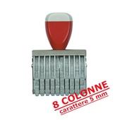 NUMERATORE GOMMA  mm.5/8COLONNE COD.0508