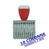 NUMERATORE GOMMA mm7/10 COLONNE COD.0710