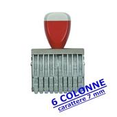 NUMERATORE GOMMA mm.7/6 COLONNE