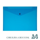 CF. 5 BUSTE C/BOTTONE A4 BLUE