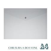 CF. 5 BUSTE C/BOTTONE A4 BIANCO