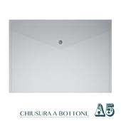 CF. 5 BUSTE C/BOTTONE A5 BIANCO