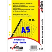 CF.25 BUSTE A FORATURA UNIVERSALE LISCIO f.to A5 015