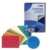 CONF.100 COPERTINE EFF.PELLE A4 230gr BK