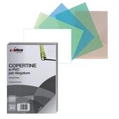 CONF.100COPERTINE PVC A4 180micron RD