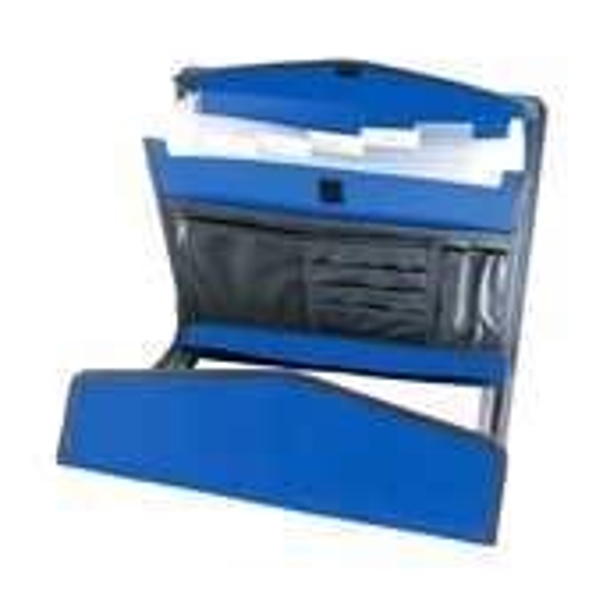 CARTELLA P/BLOCCO-VELCRO A4 METAL BLUE