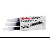 ROTRING CF. 3 CARTUCCE RAPIDOGRAPH NERO S0194640