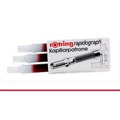 ROTRING CF. 3 CARTUCCE RAPIDOGRAPH ROSSO S0215710