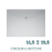 CF. 5 BUSTE C/BOTTONE f.to 14.5X10.5 BIANCO