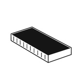 CF. 10 CUSCINETTO X TIMBRO 9012 18X48mm 7/9012 NERO